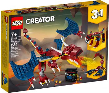 Lego Creator 3-in-1 Fire Dragon 31102