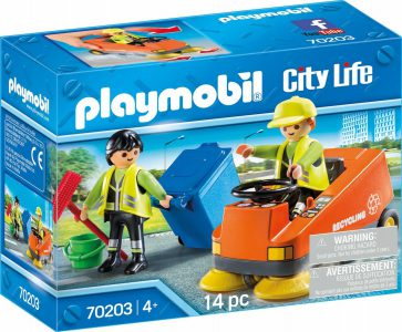 Playmobil City Life – Σάρωθρο Οδών Και Οδοκαθαριστές 70203