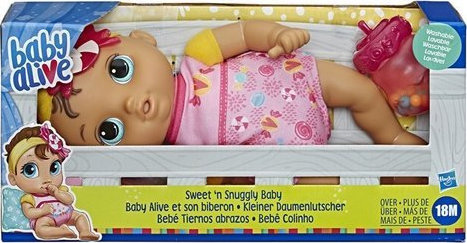 HASBRO BABY ALIVE SWEET N SNUGGLY BABY (E7599)