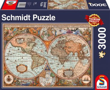 Schmidt Puzzle 3000 Pcs Αντίκα Παγκόσμιος Χάρτης 58328