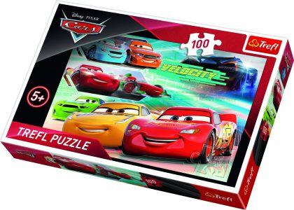 TREFL PUZZLE 100 Pcs CARS RACE HEROES 16337