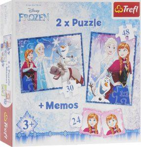 TREFL 2XPUZZLE 30/48 Pcs +MEMOS FROZEN 90617