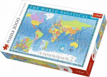 Trefl Puzzle 2000 Pcs POLITICAL MAP OF THE WORLD (ΠΟΛΙΤΙΚΟΣ ΠΑΓΚΟΣΜΙΟΣ ΧΑΡΤΗΣ) 27099
