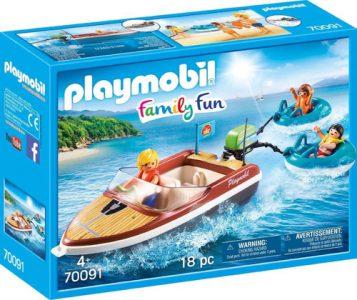 Playmobil Family Fun Ταχύπλοο σκάφος με φουσκωτές κουλούρες (70091)