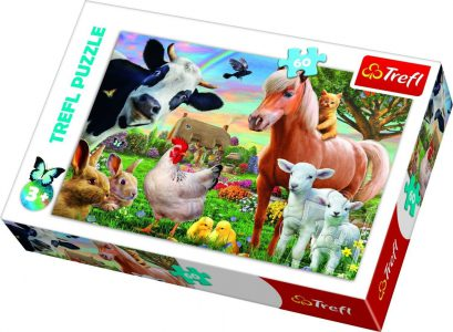 TREFL PUZZLE 60 Pcs CHEERFUL FARM 17320