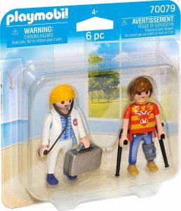 Playmobil City Life Duo Pack Γιατρός και Ασθενής (70079)