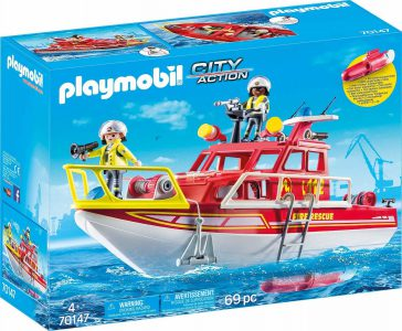 Playmobil City Action – Πυροσβεστικό Σκάφος Διάσωσης 70147