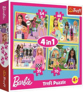Trefl Puzzle 35/48/54/70 Pcs 4 in 1 In the Barbie world 34333