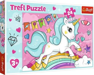 TREFL PUZZLE 24 Pcs MAXI SWEET UNICORN 14302