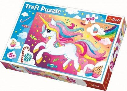 TREFL PUZZLE 100 Pcs BEAUTIFUL UNICORN 16386