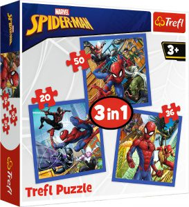 TREFL PUZZLE 20/36/50 Pcs 3 in 1 SPIDER FORCE 34841