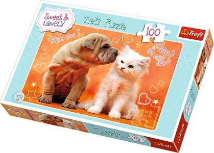 Trefl Puzzle 100 Pcs HUGS & KISSES 16264