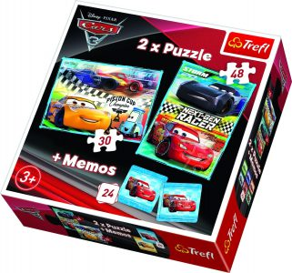 Trefl 2 X Puzzle 30/48 Pcs +Memos Cars Next Generation Race 90706