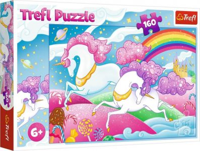 Trefl Puzzle 160 Pcs Galloping Unicorns 15372