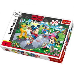 "Trefl Puzzle 100 Pcs Mickey And Friends ""Rollers"" 16249"