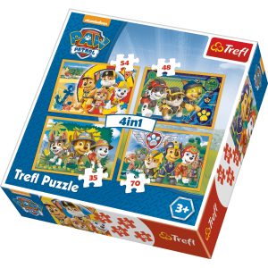 Trefl Puzzle 4 in 1 35/48/54/70 Pcs Paw Patrol – Always on Time 34307
