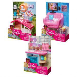 Mattel Barbie Έπιπλα Εσωτερικού Χώρου – 3 Σχέδια FXG33