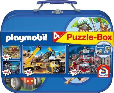 Schmidt Puzzle Playmobil – Βαλιτσάκι 2×60 & 2x100pcs 55599