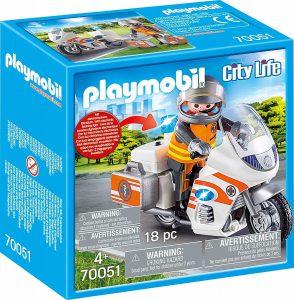 Playmobil City Life – Διασώστης με Μοτοσικλέτα 70051