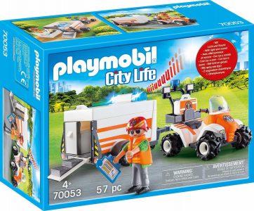 Playmobil City Life – Διασώστης με Γουρούνα και Τρέιλερ 70053