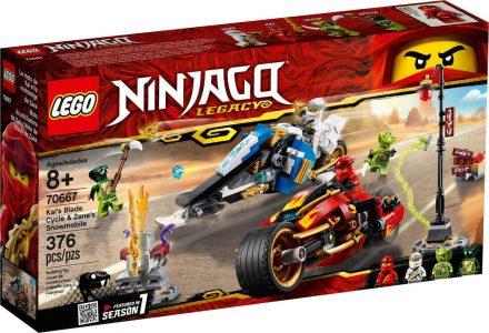 Lego Ninjago – Kai's Blade Cycle & Zane's Snowmobile 70667