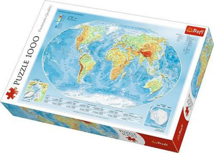 Trefl Puzzle 1000 Pcs Physical Map of the World 10463