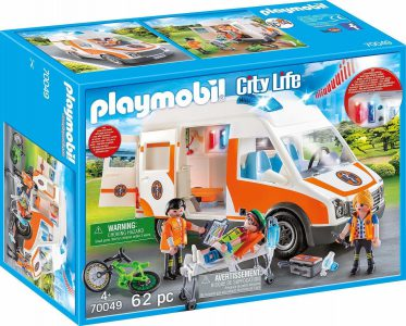 Playmobil City Life – Ασθενοφόρο με Διασώστες 70049