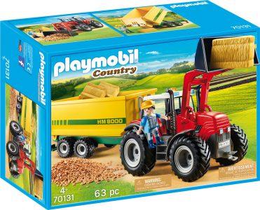 Playmobil Country – Μεγάλο Τρακτέρ Με Ρυμούλκα Τροφοδοσίας 70131