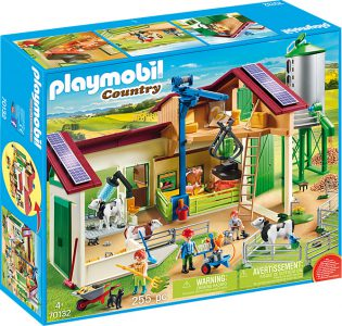 Playmobil Country – Μεγάλη Φάρμα με Ζώα και Σιλό 70132