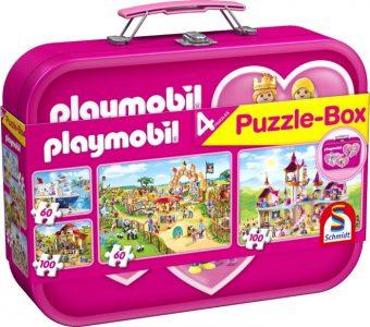 Schmidt Puzzle Βαλιτσάκι Playmobil 2×60 & 2×100 Pcs 56498
