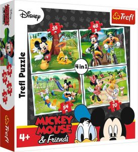 Trefl Puzzle 4 in 1 35/48/54/70 Pcs Playing in the Park 34261