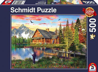 Schmidt Puzzle 500 Pcs Ψάρεμα στη λίμνη (58371)