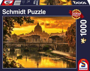 Schmidt Puzzle 1000 Pcs Χρυσό Φως Πάνω από τη Ρώμη 58393