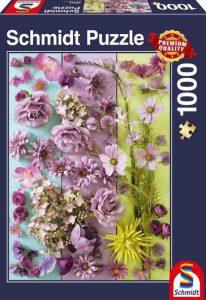 Schmidt Puzzle 1000 Pcs Βιολετί Μπουμπούκια 58944