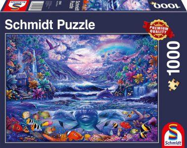 Schmidt Puzzle 1000 Pcs Όαση Κάτω από το Φως του Φεγγαριού 58945