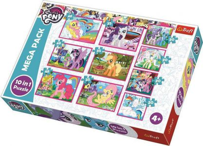 TREFL PUZZLE MEGA PACK 10/1 (4X20/3X35/3X48 PCS) PONIE'S MAGICAL WORLD 90353