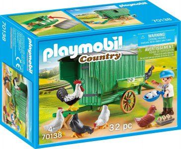Playmobil Country – Κοτέτσι Με Ρόδες 70138