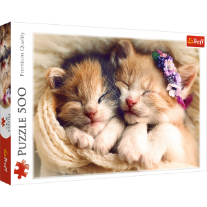 Trefl Puzzle 500 Pcs Sleeping Kittens 37271