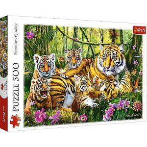 Trefl Puzzle 500 Pcs Family of Tigers 37350