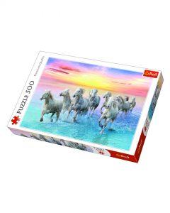 Trefl Puzzle 500 Pcs Galloping White Horses 37289