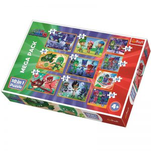 TREFL PUZZLE MEGA PACK 10 in 1 (4X20/3X35/3X48 PCS) PJ MASKS BRAVE 90357