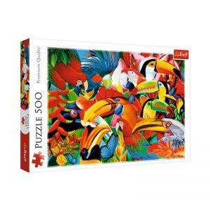 Trefl Puzzle 500 Pcs Colorful Birds 37328