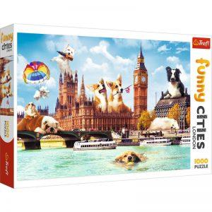 Trefl Puzzle 1000 Pcs Funny Cities London Dogs 10596