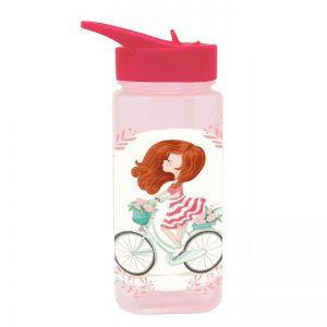 Παγούρι Πλαστικό MUST Τετράγωνο Με Καλαμάκι 500Ml κορίτσι με ποδήλατο 579672