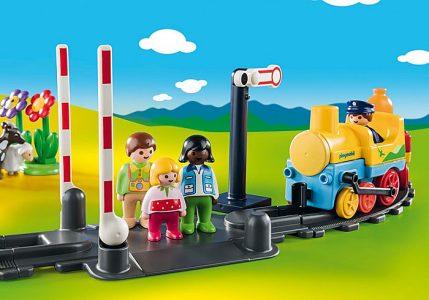 Playmobil 1.2.3 – Σετ Τρένου Με Ζωάκια Και Επιβάτες 70179