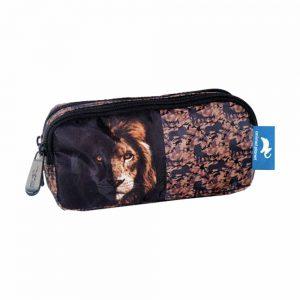 Diakakis Κασετίνα Με Διπλό Φερμουάρ Animal Planet Lion 570685