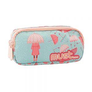 Must Κασετίνα Με Διπλό Φερμουάρ Energy Girl With Umbrella 579809