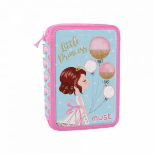 Must Κασετίνα Διπλή Γεμάτη Κορίτσι Με Μπαλόνια 579831