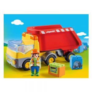 Playmobil 1.2.3 – Ανατρεπόμενο Φορτηγό Με Εργάτη 70126