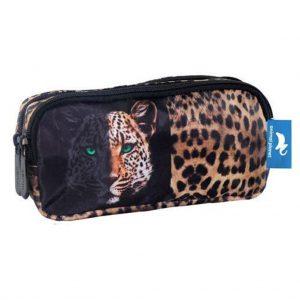 Diakakis Κασετίνα Με Διπλό Φερμουάρ Animal Planet Leopard 570686
